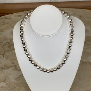 925 Sterling Silver Ball Bead Necklace 41 grams